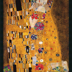Amanti Art - The Kiss (Le Baiser / Il Baccio), 1907 Framed with Gel Coated Finish - Evoking the Byzantine luxuriance of form, Klimt was a master of conveying sensuality and mystery through decorative texture and tracery. The sumptuous gold patterns found in The Kiss make it a unique symbol of romance.
