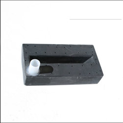 "12""Lx8""Wx3""H Rectangular Reservoir - Each Planter Well will irrigate 9"" of soil beyond its edge, so one 12"" Planter Well reservoir will keep the soil moist in a window box or planter that is 30"" long."