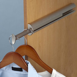 Valet Rods- the accessory your closet must have - Our highest quality valet rod is modern and sophisticated and available in multiple finishes.  polished chrome, matte nickel, oil rubbed bronze,polished brass.