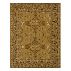 "Loloi Rugs - Loloi Rugs Walden Collection - Gold / Brown, 7'-9"" x 9'-9"" - Reimagine traditional styling with the sumptuously textured Walden Collection. These elegant, classic designs apply historic rug motifs in fresh, nuanced ways, creating timeless looks with modern appeal. Handcrafted in India in a cut-and-loop, high-low construction, each wool Walden design enjoys an airy, open pattern that is punctuated with texture and complemented with a palette perfect for today's lifestyles. If you thought you knew traditional, take a another look. Walden will surprise you.��"