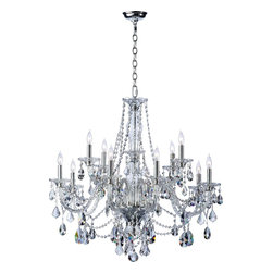 Quorum Lighting - Quorum Lighting Bohemian Marien Traditional Chandelier X-415-21-566 - Update your interior with this lavish Quorum Lighting Bohemian Marien Traditional chandelier. It features a chrome finished frame with ornate crystal accents. The elaborate detailing on the chandelier displays elegance and luxury. It is a suitable fixture to modify the interior of the room.