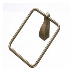 Top Knobs - Top Knobs: Aqua Bath Ring - Brushed Bronze - Top Knobs: Aqua Bath Ring - Brushed Bronze