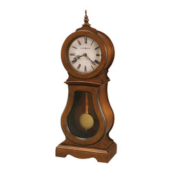 Howard Miller - Howard Miller Triple Chime Mantel Clock in Chestnut Finish | CLEO MANTEL - 635162 CLEO MANTEL