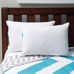 Sealy Posturepedic - Sealy Posturepedic Feather and Down Pillow (Set of 2) - - Crisp 230 Thread Count Cambric Cotton Fabric- Perfect for Back Sleepers- Hypoallergenic White Goose Feather & Down Blend- Easy Care Machine Washable & Dryable- Made In The USA