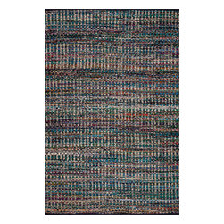 Surya - Poem Hand Woven Rug - Multicolor stripes are hand woven cotton and polyester without pile. Carefully made in India, the rug is very durable and sightly, featuring colorful finish and reversible design.Features:
