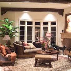 Mediterranean Family Room by Panache development & construction Inc Custom home