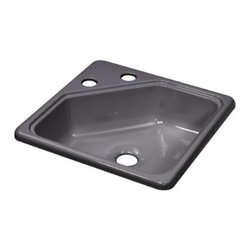 """Lyons Industries - Kitchen Sink, 15""""L x 15""""W Recreational Vehicle-Mobile Home Acrylic 5"""" Deep - Lyons Industries Single Bowl Metallic Silver acrylic Recreational Vehicle-Motor Home sink 5"""" deep centers and a 2"""" drain opening. This standard self rimming 15""""X15"""" sink is easy to install. This sturdy sink has durable easy to clean high gloss acrylic construction with a fiberglass reinforced insulation backer. This sink is quiet and provides a superior heat retention than other sink materials meaning your water stays warm longer. Lyons sinks come with a simple mounting tab and clip system to firmly fasten the sink to the countertop and reinforced drain areas. Detailed installation instructions include the cut-out specifications. Lyons sinks are proudly made in America by experienced artisans supporting our economy."""