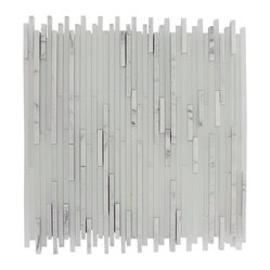 Breeze Stylus Carrera Ice Pattern Random Glass Tiles