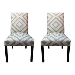 "Sole Designs - Side Chair (Set of 2) - Features: -Nouveau pattern. -Fire retardant foam. -Wipe clean. -Made in the USA. Dimensions: -39"" H x 21"" W x 23"" D, 50 lbs."