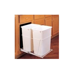 Kitchen Magic Products - Double pull out trash bin. Kitchen Magic, Inc.