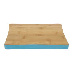 Jenny Cutting Board, Aqua - I resolve to finally replace my unsightly cutting board with a stylish version. I love the aqua band around this one.