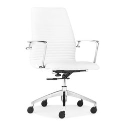 ZUO MODERN - Lion Low Back Office Chair White - Lion Low Back Office Chair White