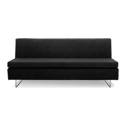 "Blu Dot - ""Blu Dot Clyde Sofa, Coal"" - ""Low-profile and un-armed, the Clyde steals the spotlight with charm. Pair the Bonnie & Clyde together for a sectional that really works a room. Available in cocoa, coal, pebble or stone."""