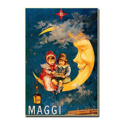 Trademark Global - Maggi Gallery Wrapped Canvas Wall Art - This beautiful, whimsical advertisement reproduction inspired by the Victorian art era is a beautiful addition to your vintage collection. Maggi sauce, developed in Switzerland in the 1800s is still widely used in kitchens all over the world, making this nostalgic print a must-have for any cook! Appealing to people of all ages, this retro style ad print will look lovely in your kitchen, formal dining room, or restaurant. Giclee on canvas art. Ready to hang. Traditional style. Subject: Vintage. Format: Vertical. Size: Large. Canvas material. 24 in. W x 32 in. H (5.25 lbs.)Giclee is an advanced printmaking process for creating high quality fine art reproductions. The attainable excellence that Giclee printmaking affords makes the reproduction virtually indistinguishable from the original artwork. The result is wide acceptance of Giclees by galleries, museums and private collectors.