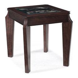 Magnussen - Magnussen Ombrio Rectangular End Table in Cherry - Magnussen - End Tables - T203403