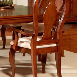 Liberty Furniture - Louis Philippe Arm Chair - Slat back. Warranty: One year. Made from hardwoods, poplar solids and cherry veneers. Cherry finish. Made in Malaysia. 25 in. W x 23 in. D x 42 in. H (26 lbs.)