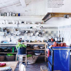 Eclectic  kitchen workspace via inside out