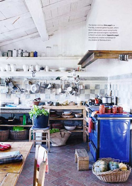 eclectic kitchen kitchen workspace via inside out