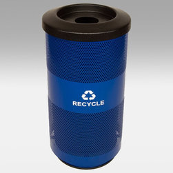 Witt Industries - Witt Industries Stadium Round Opening 20 Gallon Blue Recycling Bin - SC20-01-RC- - Shop for Trash Receptacles from Hayneedle.com! Encourage recycling with the Witt Industries Stadium Round Opening 20-Gallon Blue Recycling Bin. With its single round opening this bin is designed to hold bottles cans plastic or glass and also keeps unwanted items out. Its slim and durable design fits in almost any spot while the container is clearly marked as a recycling bin. Able to hold up to 20-gallons this bin measures 15.5W x 31.5H inches.About Witt IndustriesWith its rich and established history in the steel waste receptacle manufacturing industry that dates back to 1887 Witt Industries has been in the forefront with its innovation quality and service. The company's founder George Witt invented and patented the first corrugated galvanized ash can and lid back in 1889 and the company has never looked back. Today Witt Industries is part of the Armor Metal Group and is a woman-owned business.