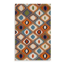 Trans-ocean - Trans-Ocean Ogee Indoor/Outdoor Rug - Brighten up your space with this colorful Trans-Ocean Ogee rug. The rug features bold geometrical patterns perfectly suited to a contemporary, modern or eclectic decorating scheme.