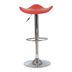 Euro Style - Euro Style Fabia Bar or Counter Stool 04379 - Contemporary bar chair perfect from top to bottom. Actually with its uniquely formed seat its especially good with bottoms. Chrome plated steel makes it sturdy and permanently hip.