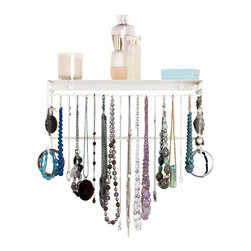 BelleDangles Jewelry Organizers - Wall-Mounted Jewelry Organizers by BelleDangles, White, Large - Be organized, wear your jewelry more and accessorize in seconds everyday!