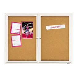 Quartet Enclosed Cork Bulletin Board for Indoor Use - 48 x 36 in. - About QuartetQuartet knows that you just have to write it down or you'll forget. They've been in the whiteboard, bulletin board, and chalkboard business since 1945 and have perfected the art of the perfect surface. Today, they boast a full line of visual communication products used at home, in the office, in hospitals, and in schools across the country. When you're looking for a product to help you communicate, you're looking for Quartet.