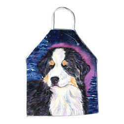 Caroline's Treasures - Starry Night Bernese Mountain Dog Apron SS8446APRON - Apron, Bib Style, 27 in H x 31 in W; 100 percent  Ultra Spun Poly, White, braided nylon tie straps, sewn cloth neckband. These bib style aprons are not just for cooking - they are also great for cleaning, gardening, art projects, and other activities, too!