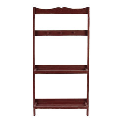 Urban Trends Collection - Wooden Shelf & Hanger Red - Wooden Shelf & Hanger Red
