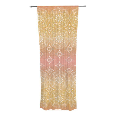 "Kess InHouse - Suzie Tremel ""Medallion Blush Ombre"" Pink Decorative Sheer Curtain - Let the light in with these sheer artistic curtains. Showcase your style with thousands of pieces of art to choose from. Spruce up your living room, bedroom, dining room, or even use as a room divider. These polyester sheer curtains are 30"" x 84"" and sold individually for mixing & matching of styles. Brighten your indoor decor with these transparent accent curtains."