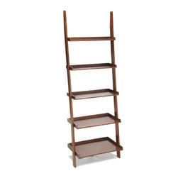 Convenience Concepts - American Heritage Ladder Bookshelf Multimedia Storage Rack - Features: -Ladder bookshelf. -American Heritage collection. -Includes assembly tools. -Classic American styling that will fit any decor. -Perfect for home office. -Will provide years of enjoyment.