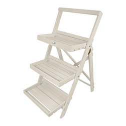 Esschert Design - Step Ladder Plant Stand, White - This plant stand will perfectly display all of your plants and flowers. Makes any garden appealing with a country cottage setting.