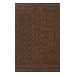 Jaipur Rugs - Jaipur Rugs Flat-Weave Tribal Pattern Wool Brown/Red Area Rug, 8 x 10ft - A range of beautifully designed flatweaves in a stunning color palette. Hand woven from 100% wool ach rug has its own personality and is versatile and easy to use.