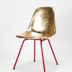 Eames Side Chair Golden - This is probably the chicest (and most expensive) guest chair you can have in your home office.