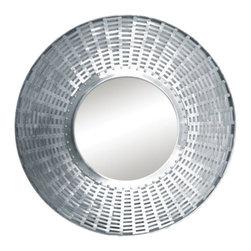 "Ren Wil - Ren Wil MT1341 Khadi 30"" Circle Aluminum Frame Wall Mounted Mirror - Features:"