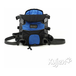 Kyjen - Legs Out Front Carrier Blue Small - The Legs Out Front Carrier is Outward Hound's solution to carrying small dogs baby style. The Legs Out Front Carrier provides padded support with the freedom of a legs-out ride. Cushioned adjustable straps allows owner to secure the carrier to his/her che