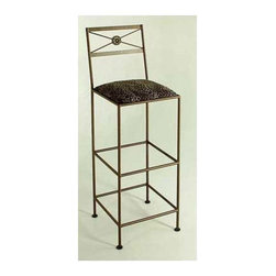 "Grace - Tall Neoclassic Bar Stool - Features: -Painted according to your choice of metal finish .-Ships fully assembled .-Dimensions: 16.5"" W x 16.5"" D x 36"" H. About Grace Collection: Grace Manufacturing is a metal and wrought iron furniture manufacturing company located in Rome, GA. The company has been in business for 25 years and continues to employ skilled artisans and craftsmen. In addition to their state of the art manufacturing equipment they still assemble and finish many products by hand. Many items in the Grace Collection are fully hand made or hand painted. With products ranging from barstools, counter stools, and dinettes to wrought iron beds, hanging potracks, bakers racks and more, Graces line meets all professional and home needs. By implementing unique styles and ideas to traditional products, Grace has created an exceptional balance between creativity and practicality. Their design styles range somewhere between whimsical, neo classic and traditional, thus creating a truly astonishing decor for any inside space."