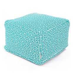 Majestic Home - Outdoor Pacific Towers Large Ottoman - Add a little character to your living room or patio with the Majestic Home Goods Large Ottoman. This Ottoman is the perfect accessory to add comfort and style to any room while functioning as a decorative foot stool, pouf, or coffee table. Woven from outdoor treated polyester, these ottomans have up to 1000 hours of U.V. protection and are able to withstand all of natures elements. The beanbag inserts are eco-friendly by using up to 50% recycled polystyrene beads, and the removable zippered slipcovers are conveniently machine-washable.