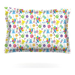 """Kess InHouse - Laura Escalante """"Fun Creatures"""" Pillow Sham (Cotton, 30"""" x 20"""") - Pairing your already chic duvet cover with playful pillow shams is the perfect way to tie your bedroom together. There are endless possibilities to feed your artistic palette with these imaginative pillow shams. It will looks so elegant you won't want ruin the masterpiece you have created when you go to bed. Not only are these pillow shams nice to look at they are also made from a high quality cotton blend. They are so soft that they will elevate your sleep up to level that is beyond Cloud 9. We always print our goods with the highest quality printing process in order to maintain the integrity of the art that you are adeptly displaying. This means that you won't have to worry about your art fading or your sham loosing it's freshness."""