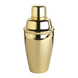 Franmara - 8 Ounce 3 Piece Gold Plated Tavern Style Cocktail Shaker Set - This gorgeous 8 Ounce 3 Piece Gold Plated Tavern Style Cocktail Shaker Set has the finest details and highest quality you will find anywhere! 8 Ounce 3 Piece Gold Plated Tavern Style Cocktail Shaker Set is truly remarkable.