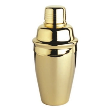 Franmara - Gold-Plated Tavern-Style Cocktail Shaker, 3-Piece Set - This gorgeous 8 Ounce 3 Piece Gold Plated Tavern Style Cocktail Shaker Set has the finest details and highest quality you will find anywhere! 8 Ounce 3 Piece Gold Plated Tavern Style Cocktail Shaker Set is truly remarkable.