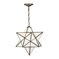 "Meyda Tiffany - Meyda Tiffany Moravian 18""  Modern / Contemporary Outdoor Pendant Light X-24812 - Be the star of your household with this multi-faceted pendant light. Dating back hundreds of years to Moravia, the star was used to protect your home and bring fortune to your family. With its sleek lines and geometric forms depicting modern and contemporary inspirations, this outdoor light is hand finished in Mahogany Bronze and adds that timeless sophistication to your outdoor entertainment spaces."