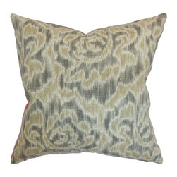 The Pillow Collection - Laserena Yellow 18 x 18 Coastal Throw Pillow - - Pillows have hidden zippers for easy removal and cleaning  - Reversible pillow with same fabric on both sides  - Comes standard with a 5/95 feather blend pillow insert  - All four sides have a clean knife-edge finish  - Pillow insert is 19 x 19 to ensure a tight and generous fit  - Cover and insert made in the USA  - Spot clean and Dry cleaning recommended  - Fill Material: 5/95 down feather blend The Pillow Collection - P18-D-21049-SAND-55L45R