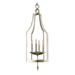 Currey and Company - Musicbox Lantern - If you fancy refinement, but lack expansive space, illuminate your interior with this lantern chandelier. It's rich with old-world style thanks to a simple, classic design and candelabra bulbs.