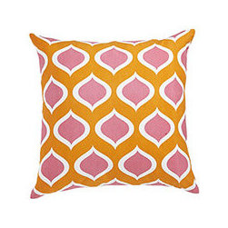 PERSEPOLIS PILLOW FLAMINGO - Ever take a look around and realize things have gotten a little drab? Or are you just ready to change up your color scheme? Introducing our line of fun, punchy modern graphic pillow covers, each lending a bright pop of color to your home. These vibrant cotton covers are an inexpensive way to easily update a space. Simply cover your existing pillows with this cover, swap out a couple of accessories, and voila!–instant makeover.