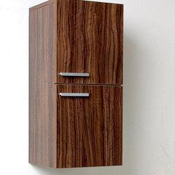 None - Fresca Walnut Bathroom Linen Side Cabinet - The Fresca linen side cabinet features two ...