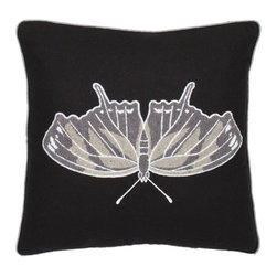 Safavieh Home Furniture - 18-Inch Decorative Butterfly Pillow Set of Two - - Coastal decor goes contemporary with this Orchard Butterfly 18-inch Navy Blue / Grey Decorative Pillows (Set of 2) a chic new design featuring an artfully detailed marine ray rendered in nubby gray bouclT fabric. Navy Blue background with accents of grey and cream detail a ground fabric of black cotton/linen blend.   - Black  - Some assembly required - Yes  - Please note this item has a 30-day manufacturer's limited warranty that covers product defects. Inspect your purchase upon delivery and notify us immediately with any concerns. Safavieh Home Furniture - PIL831A-1818-SET2