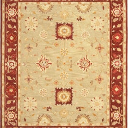Safavieh - Safavieh Anatolia AN556A, Beige, 5'x8' Rug - Anatolia Collection brings old world sophistication and quality in new tufted rugs. This collection captures the authentic look and feel of the decorative rugs made in the late 19th century in this region. Hand spun wool and an ancient pot dying technique together with a densely woven thick pile, gives Anatolia rugs their authentic finish.
