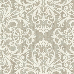 York Wallcoverings - York Wallpaper, Silver, Sample - Prepasted: Paste has already been applied to the back of the wallpaper and is activated with water.