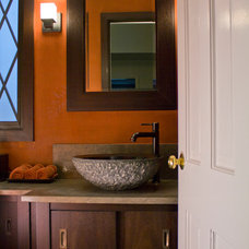 Asian Powder Room by Roberts Construction